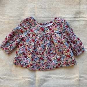 Baby Gap | baby girl floral blouse top